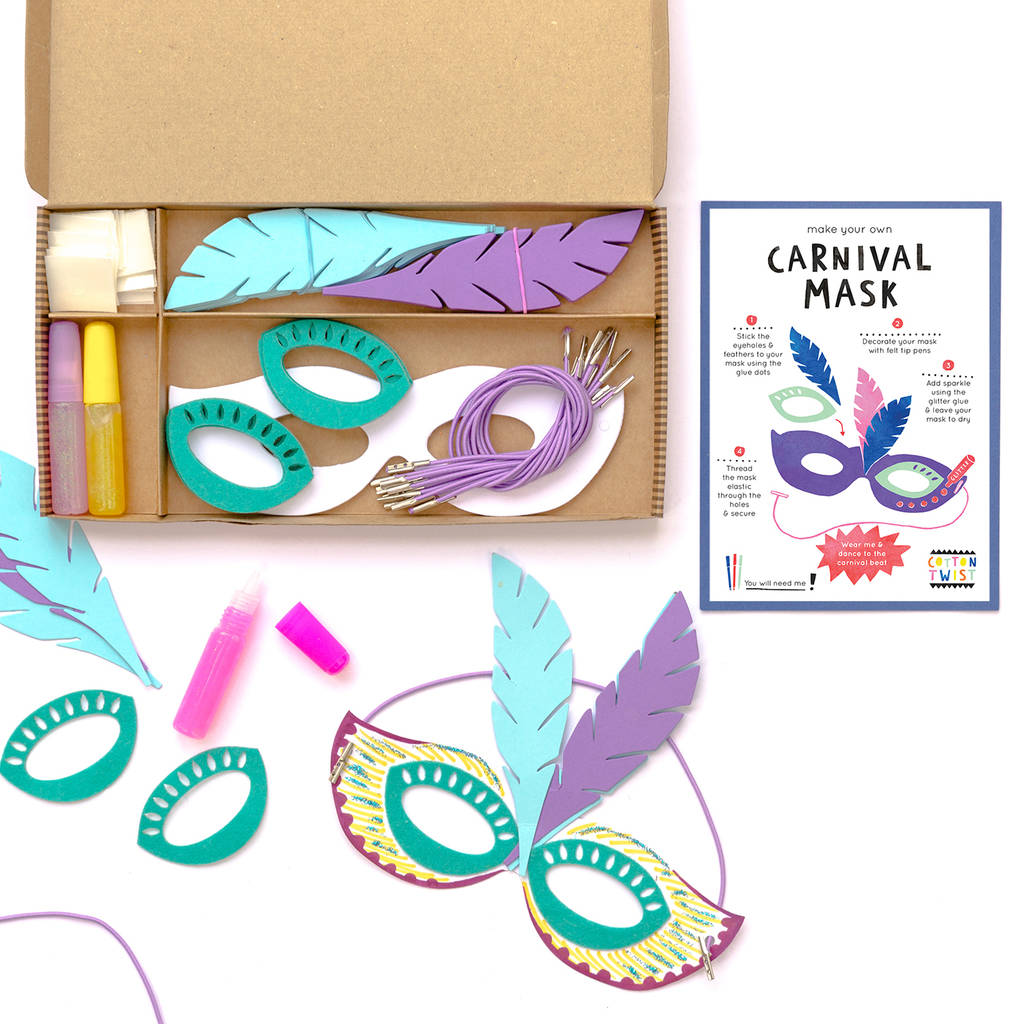 Carnival Mask Craft Party Kit