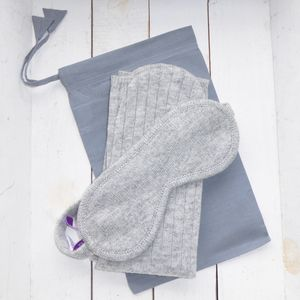 Luxury Lambswool Eye Mask And Sock Set - socks