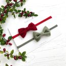 Little Love Baby Bow Headband Set/ Festive Velvet
