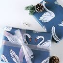 Swan Christmas Wrapping Paper