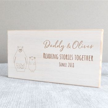 Daddy And Me Favourite Memory Personalised Wooden Sign