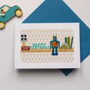 Boy's Toy Shelf Birthday Card