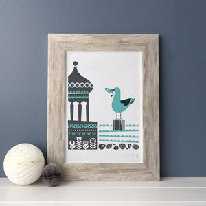 Brighton Seaside Scandinavian Mid Century Art Print - posters & prints