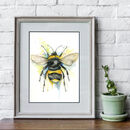 Bumble Bee Fine Art Water Colour Print