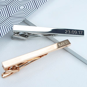 Personalised Tie Clip - jewellery for men
