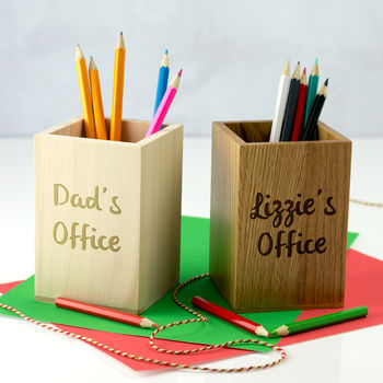 Personalised Pen Pot For Office