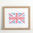 Personalised Typographic Flag Print