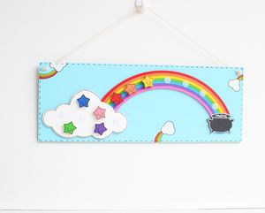 Personalised Rainbow And Stars Reward Chart