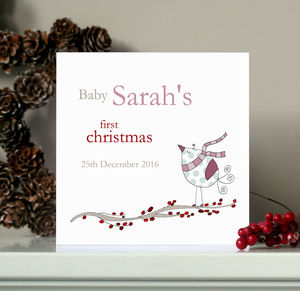Personalised Baby's First Christmas Card - shop by category
