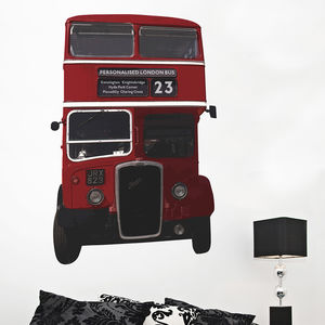 Personalised British Bus Wall Sticker