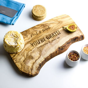 Personalised Raw Edge Cheese Board - dining room