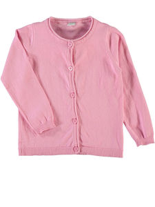 Vamina Long Sleeve Cardigan In Light Pink