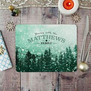 Personalised Christmas Placemat And Coaster Set - table decorations