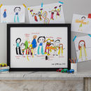 Personalised Extended Family Print From Child's Drawing