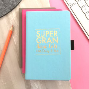 Personalised 'Super Gran' Notebook - gifts for grandparents