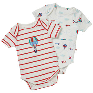 Fly The Sky Baby Bodysuits Two Pack - underwear