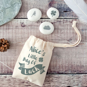 'Little Bag Of Luck' Keepsake Pebble Token Kit