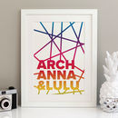 Personalised Family Names Print Graphic Scandi Style