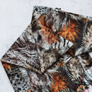 Eden Reversible Scarf With Floral And Animal Print