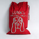 Personalised Dog Christmas Gift Sack - showing cocker spaniel