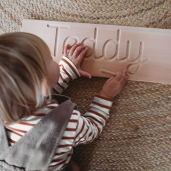 Personalised Wooden Cursive Name Tracing Board
