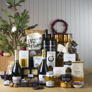 Luxury Christmas Feast Hamper With Prosecco - food hampers