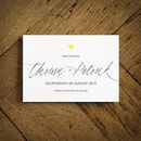 Swoon Gold Foiled Wedding Invitation