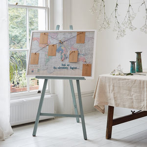 Embroidered Fabric World Map Wedding Table Plan