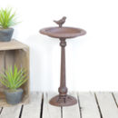 Cast Iron Bird Bath On Pole