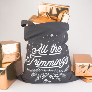 All The Trimmings Christmas Tote Bag - stockings & sacks