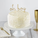 Oh Boy Cake Topper