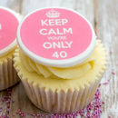 Personalised Keep Calm Birthday Cupcake Toppers