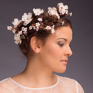 Evelyn Blossom Hair Pin - bridal hairpieces