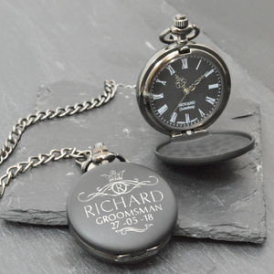 Personalised Pocket Watch For Groomsman - sale
