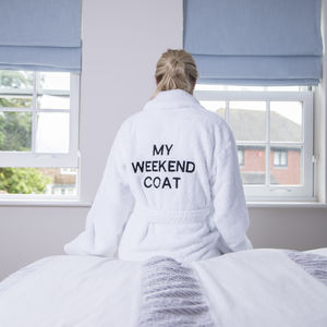 Personalised Luxury Shawl Collar Unisex Dressing Gown
