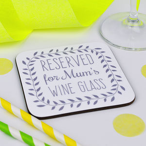Personalised Wine Coaster - mother's day gifts