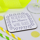 Personalised Wine Coaster