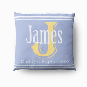 Personalised Name Cushion For Him