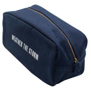 Large Canvas Men's Wash Bag - wash & toiletry bags