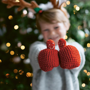 Child's Hidden Message Mittens - gifts for babies & children