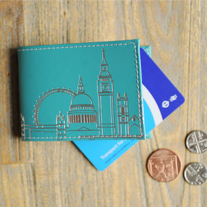 Peacock Green London Skyline Oyster Card Holder - womens