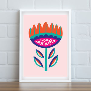 'Happy Flora' Art Print