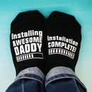 Personalised Installing Awesome Daddy Socks