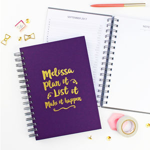 'Plan It, List It' Foiled Diary And Planner - gifts for her