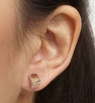 Single Triangle Stud Earring