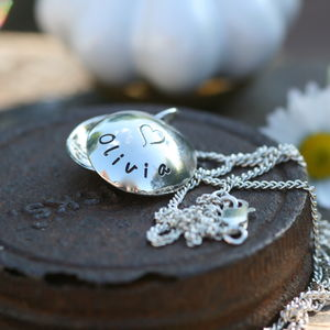 Personalised Lucy Silver Locket