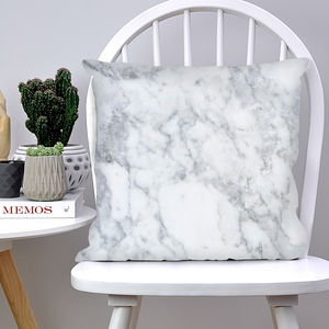 Marble Effect Cushion - warm minimal homeware