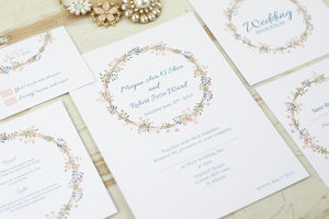 Floral Pattern Wedding Invites - wedding stationery