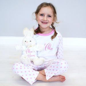 Personalised Bunny Rabbit Children's Pyjama Set