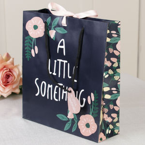 A Little Something Large Floral Gift Bag - gift bags & boxes